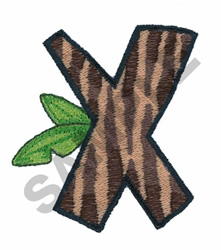X embroidery design
