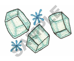 ICE CUBES embroidery design