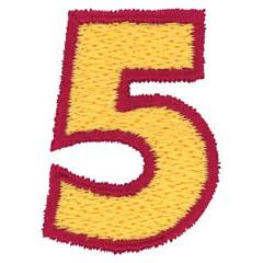 2 Color Alphabet 5 embroidery design