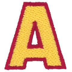 2 Color Alphabet A embroidery design