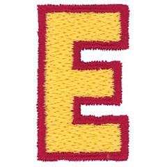 2 Color Alphabet E embroidery design
