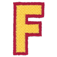 2 Color Alphabet F embroidery design