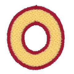 2 Color Alphabet O embroidery design