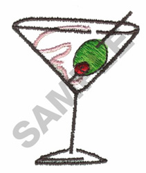 MARTINI AND OLIVE embroidery design