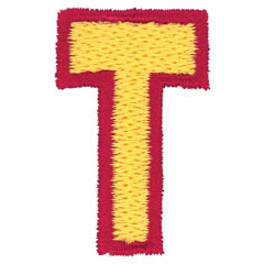 2 Color Alphabet T embroidery design