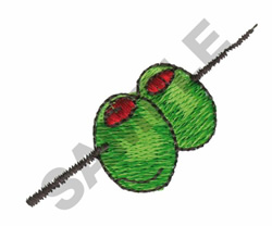 OLIVES ON A STICK embroidery design