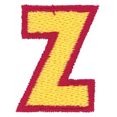 2 Color Alphabet Z embroidery design
