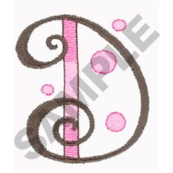 LETTER D embroidery design