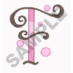LETTER F embroidery design