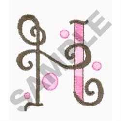 LETTER H embroidery design