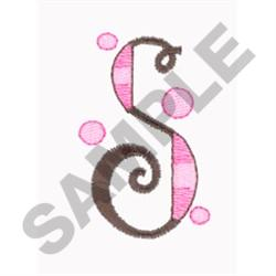LETTER S embroidery design