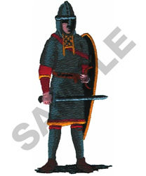 KNIGHT W/SWORD & SHIELD embroidery design