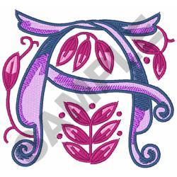 MONOGRAM ALPHABET A embroidery design