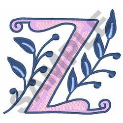 MONOGRAM ALPHABET Z embroidery design
