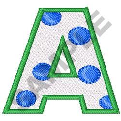 POLKA DOT ALPHABET A embroidery design