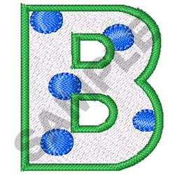 POLKA DOT ALPHABET B embroidery design