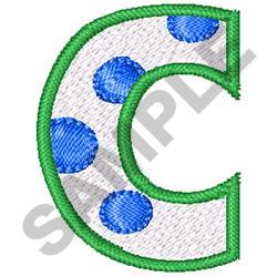 POLKA DOT ALPHABET C embroidery design
