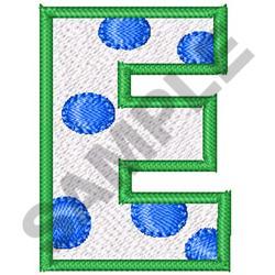 POLKA DOT ALPHABET E embroidery design