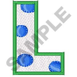 POLKA DOT ALPHABET L embroidery design