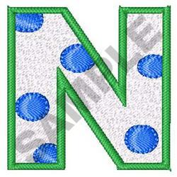 POLKA DOT ALPHABET N embroidery design
