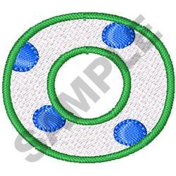 POLKA DOT ALPHABET O embroidery design
