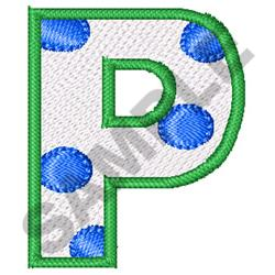 POLKA DOT ALPHABET P embroidery design