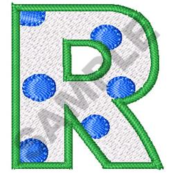 POLKA DOT ALPHABET R embroidery design