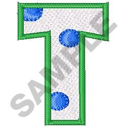 POLKA DOT ALPHABET T embroidery design