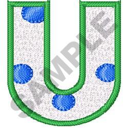 POLKA DOT ALPHABET U embroidery design