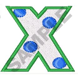 POLKA DOT ALPHABET X embroidery design