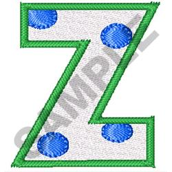 POLKA DOT ALPHABET Z embroidery design