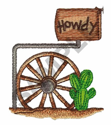 WESTERN MAILBOX embroidery design