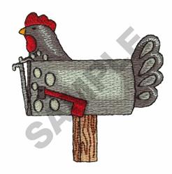 CHICKEN MAILBOX embroidery design