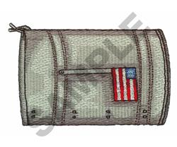 USA FLAG MAILBOX embroidery design