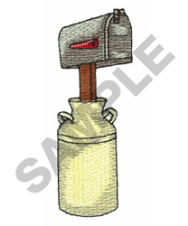 MAILBOX IN TIN CAN embroidery design