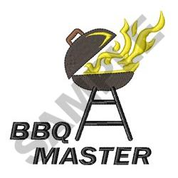 BBQ MASTER embroidery design