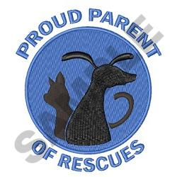 PARENT OF RESCUES embroidery design