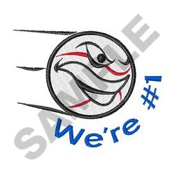 WE ARE  NUMBER ONE embroidery design