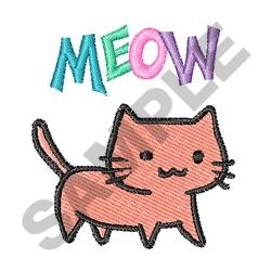 KITTY CAT MEOW embroidery design