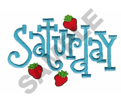 SATURDAY WITH STRAWBERRIES embroidery design