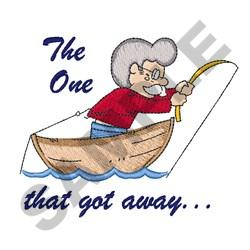 THE ONE THAT GOT AWAY embroidery design