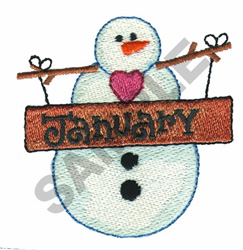 JANUARY embroidery design