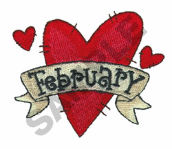 FEBRUARY embroidery design