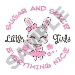 GIRL BUNNY SUGAR AND SPICE embroidery design
