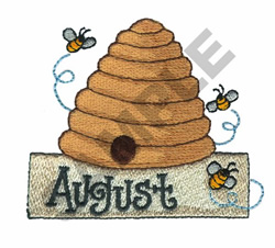AUGUST embroidery design