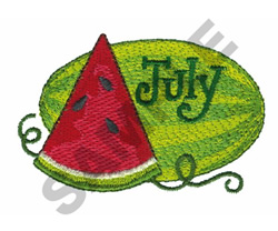 JULY embroidery design