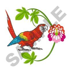 TROPICAL MACAW embroidery design