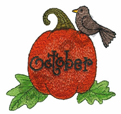 OCTOBER embroidery design
