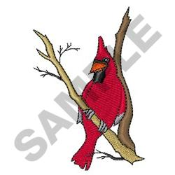 CARDINAL IN WINTER embroidery design