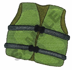 LIFE JACKET embroidery design